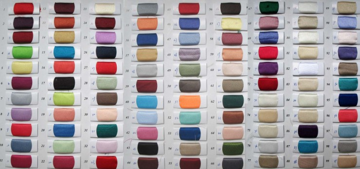 satin color chart