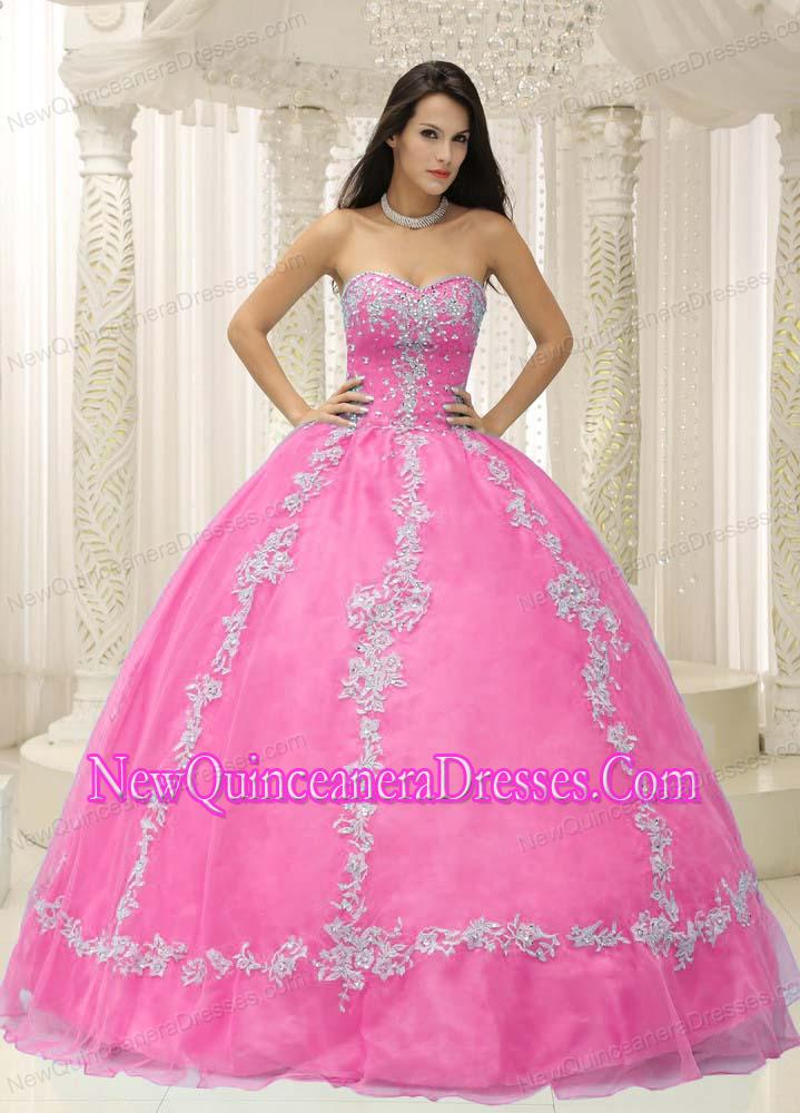 Puffy Pink Sweetheart Appliques and Beaded Decorate For 2015 Sweet ...