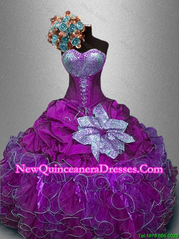 Custom Made Sweetheart Quinceanera Gowns with Sequins