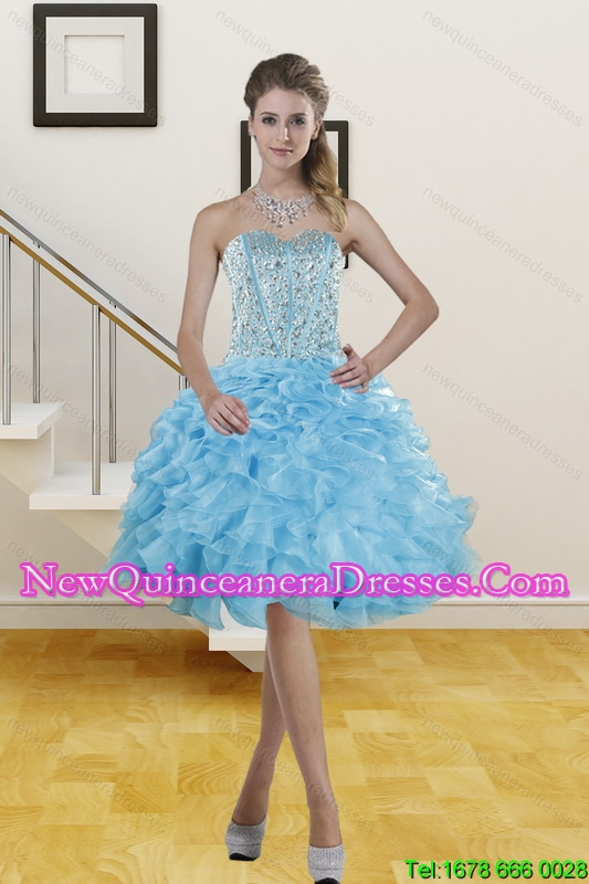 2014 Beautiful Sweetheart Knee Length Dama Dresses with Sequins