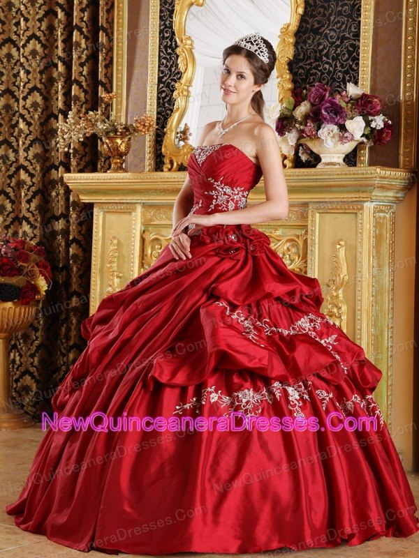 Wine Red Quinceanera Dresses, Cheap Quinceanera Gowns in Wine Red