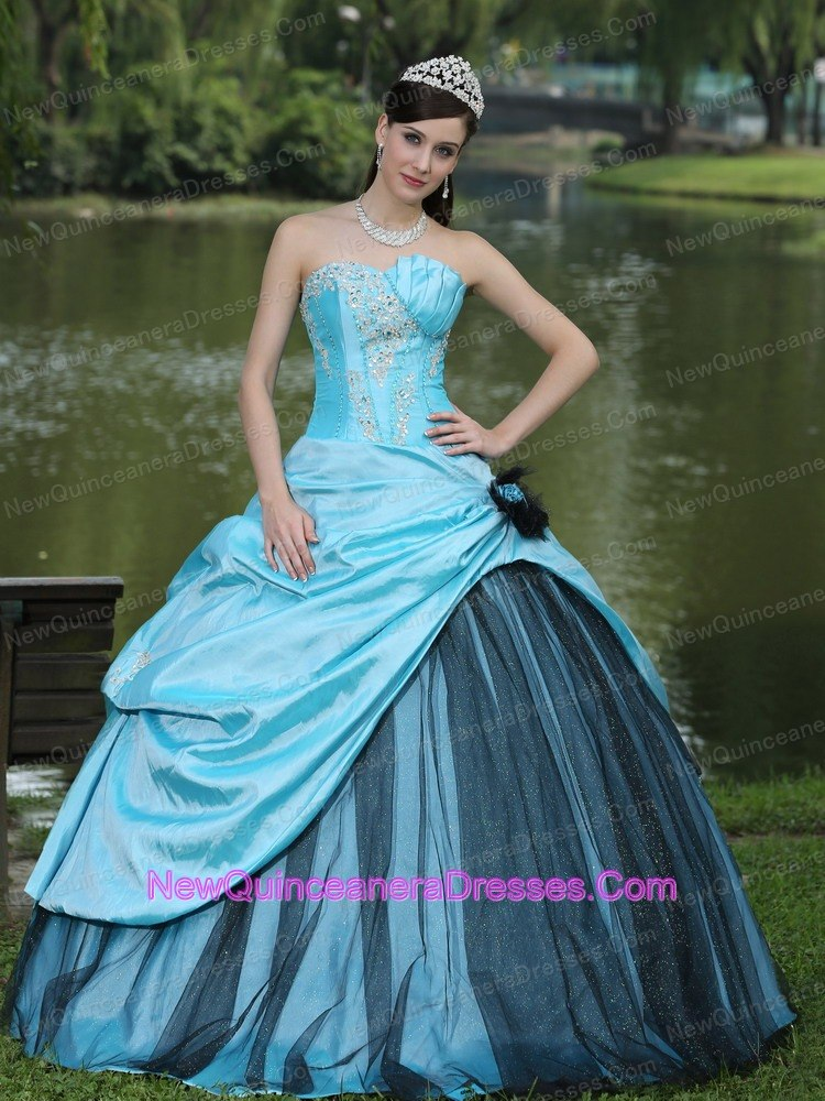 Aqua Blue Taffeta 2013 Quinceanera Dress Custom Made 2013 Aqua ...