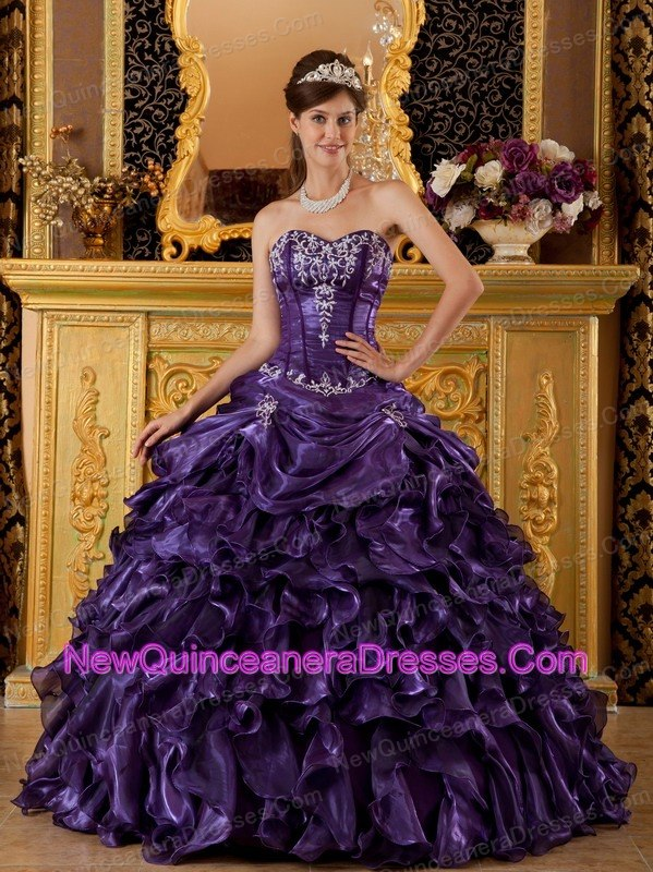 Black And Purple Ball Gowns - Missy Dress