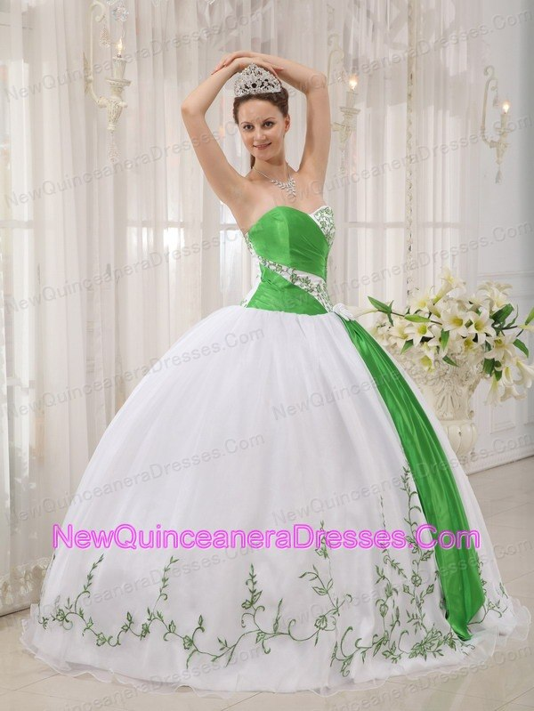 Quinceanera Dresses with Embroidery, Pretty Embroidery Ball Gowns