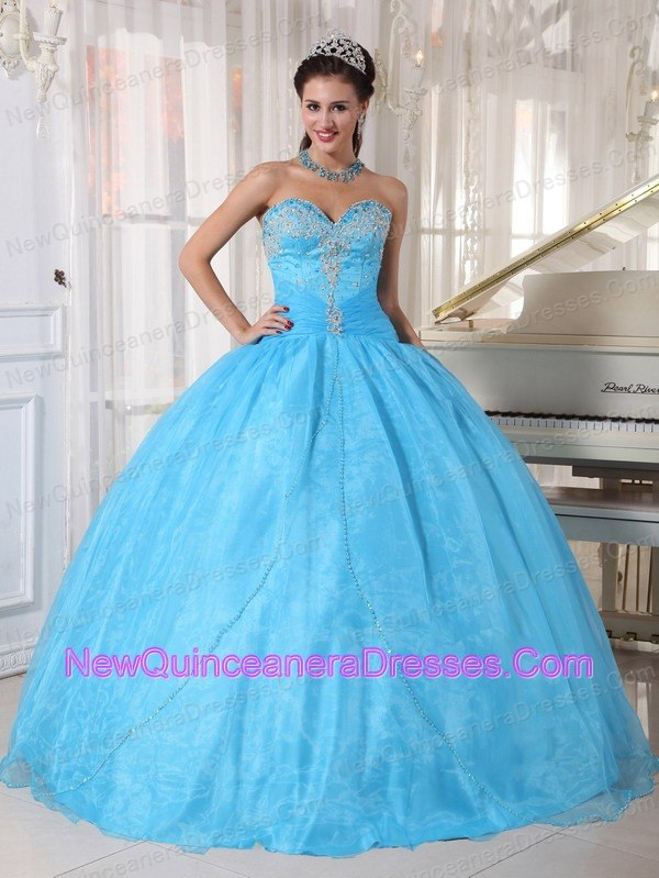 Baby Blue Quinceanera Dresses, Cheap Quinceanera Gowns in Baby Blue