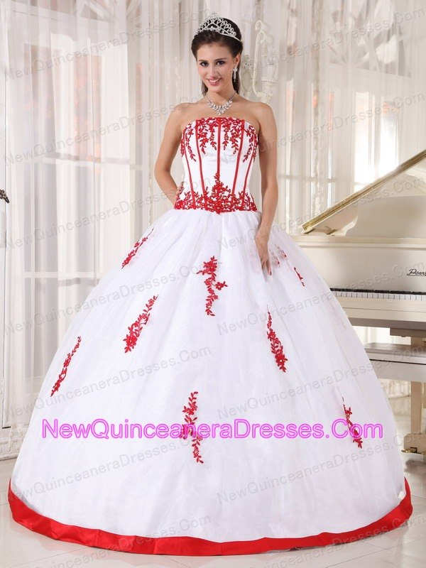 White And Red Quince Dresses