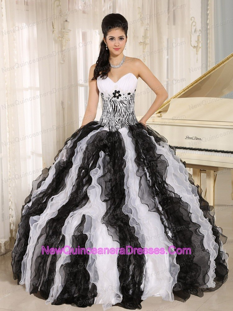 White And Black Quinceanera Dresses Cheap Quinceanera Gowns in ...