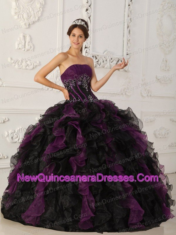 Black And Purple Quinceanera Dresses Cheap Quinceanera Gowns in ...