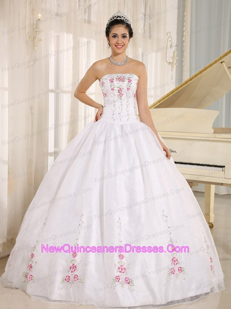White Quinceanera Dresses, Cheap Quinceanera Gowns in White