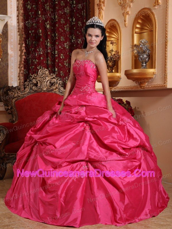 Hot Pink Quinceanera Dress Under 200 Pick-ups Design - $182.99