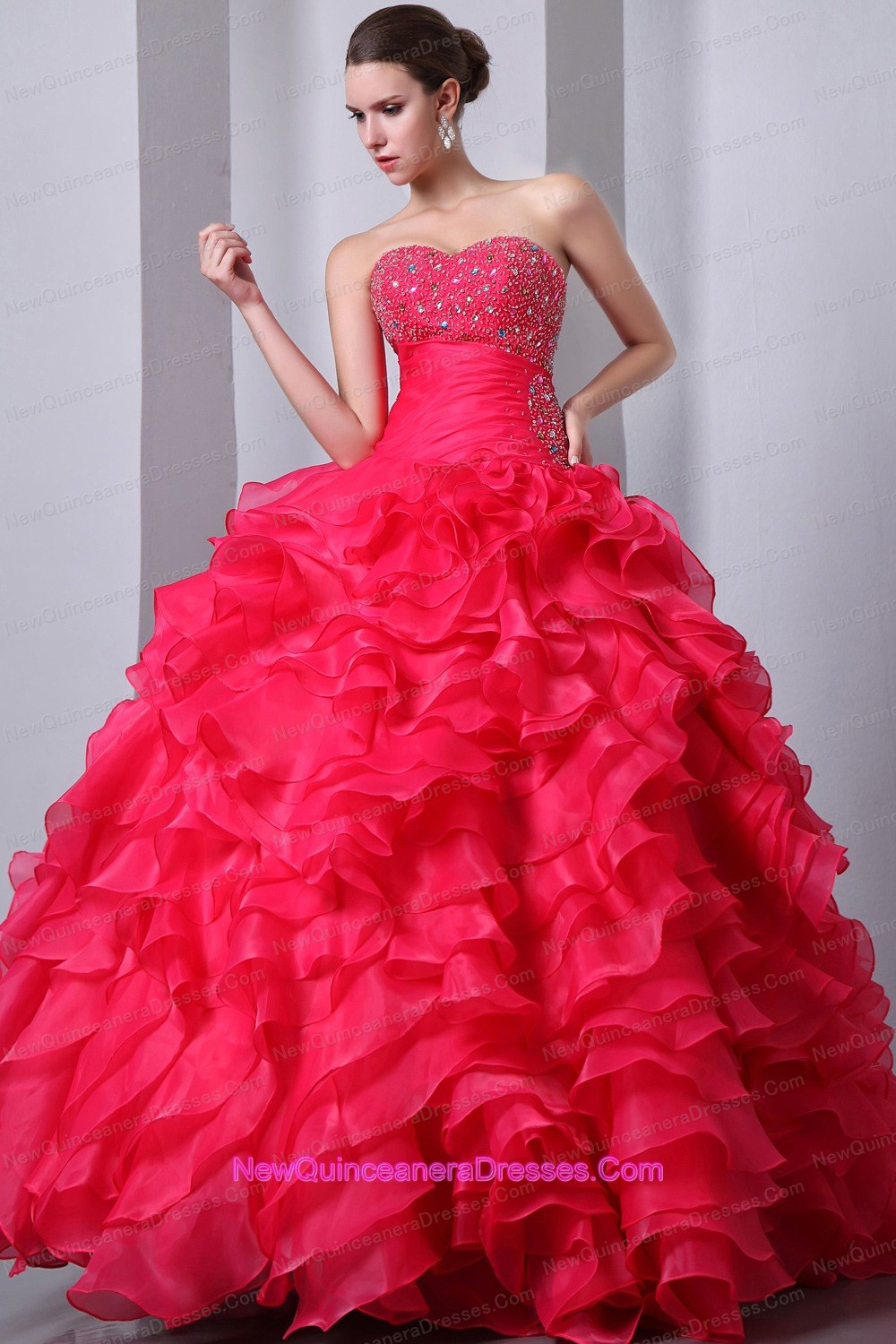 Quinceanera Dresses with Ruffles, Pretty Ruffles Ball Gowns
