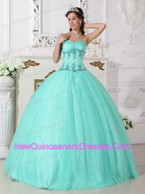 Quinceanera Dresses with Appliques, Pretty Appliques Ball Gowns