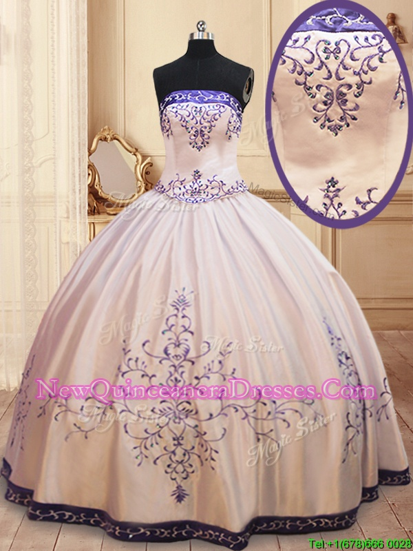 Adorable Sleeveless Beading and Embroidery Zipper Sweet 16 Quinceanera Dress