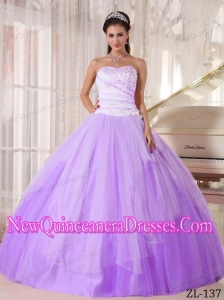 Affordable Ball Gown Lavender and White Sweetheart Beading 2013 Quinceanera Dress
