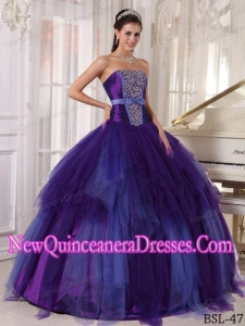 Beautiful Ball Gown Strapless Floor-length Tulle Beading 2013 Quinceanera Dress