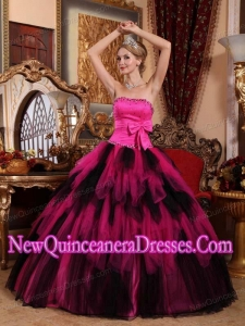 2014 Wonderful Ball Gown Strapless Tulle Beading Quinceanera Dress