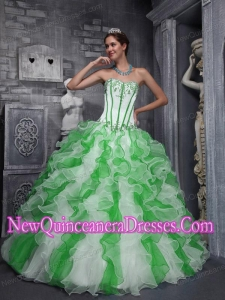 Sweet Sweetheart Taffeta and Organza Appliques Colorful 2014 Quinceanera Dress