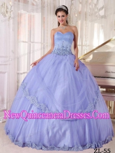 Cheap Lialc Ball Sweetheart With Appliques Quinceanera Gowns