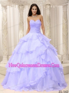 Cheap With Hand Made Flowers Decorate Waist For Quinceanera Dress