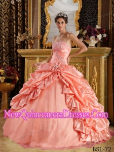 Watermelon Ball Gown Elegant Quinceanera Dress