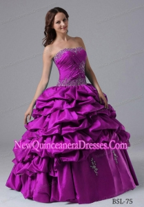2013 Perfect Ball Gown Pick-ups Quinceanera Dress With Beading and Ruche