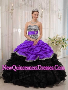 Luxurious Brand New Purple and Black Ball Gown Sweetheart Quinceanera Dresses