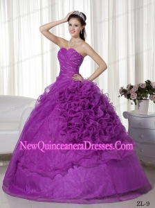 2015 Popular Ball Gown Sweetheart Beading and Ruch Quinceanera Gowns