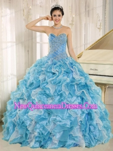 Beaded Bodice and Ruffles Custom Made For Luxurious Quinceanera Dresses