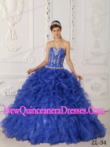 Luxurious Satin and Organza Appliques Quinceanera Dress