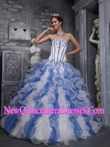 Perfect Sweet Ball Gown Sweetheart Taffeta and Organza Appliques Colorful Quinceanera Dress