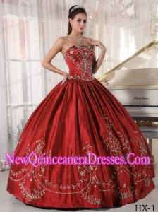 Simple Quinceanera Dresses With Ball Gown Strapless Satin Embroidery