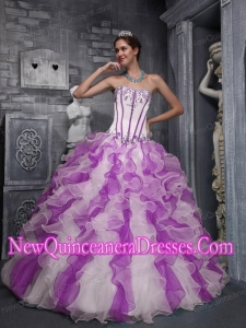 Plus Size Sweet Ball Gown Sweetheart Taffeta and Organza Appliques Colorful Quinceanera Dresses