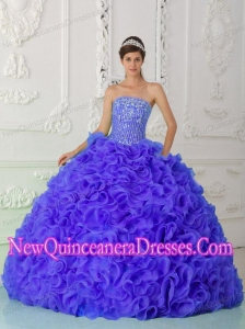 Plus Size Purple Quinceanera Dress Ball Gown Strapless Organza Beading