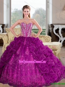 Top Seller Sweetheart 2015 Quinceanera Dresses with Beading and Pick Ups
