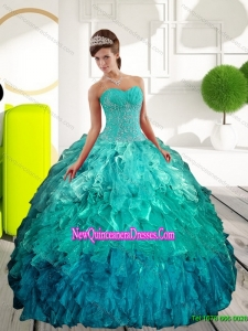 Top Seller Sweetheart Multi Color Quinceanera Dresses with Appliques and Ruffle