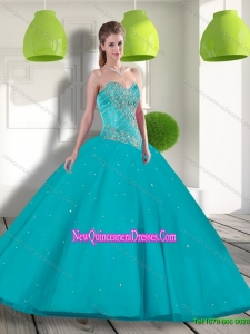 New Style Sweetheart 2015 Quinceanera Dress with Beading and Appliques