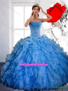 Luxurious Ball Gown Quinceanera Dress with Ruffles and Appliques