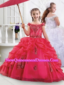 Cute Off the Shoulder Mini Quinceanera Dress with Appliques and Bubbles