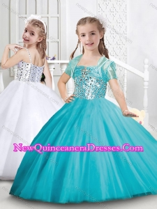 Cute Puffy Skirt Tulle Mini Quinceanera Dress with Beading
