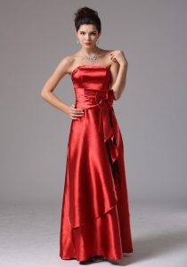 Custom Made Wine Red Empire Quinceanera Dama Dresses