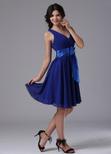 Simple Blue For 2013 Dama Dresses for Quinceanera