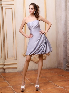 Grey Dama Dress Strapless Mini-length Taffeta