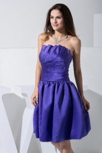 Simple Purple Dama Dress For 2013 Knee-length A-line Strapless