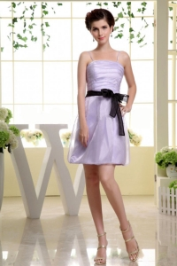 Spaghetti Straps and Sash For Short Lilac Dama Dress