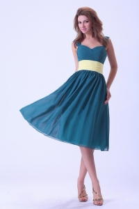 Straps Dama Dress Knee-length Chiffon For Custom Made