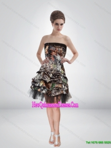 Artistic 2015 Short Strapless Camo Cheap Damas Dresses