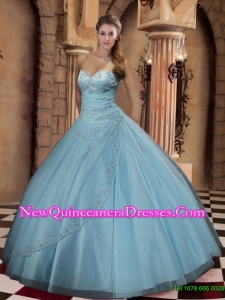Beautiful 2015 Summer Ball Gown Sweetheart Floor-length Quinceanera Gown