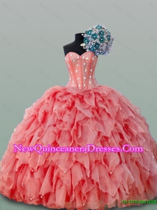 2015 Perfect Sweetheart Quinceanera Dresses with Beading