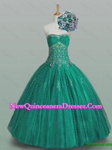 2015 Classical Strapless Quinceanera Dresses with Beading and Appliques