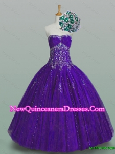 Flirting Strapless Quinceanera Dresses with Beading and Appliques